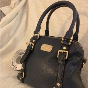 (New) Michael Kors Navy Bedford Satchel